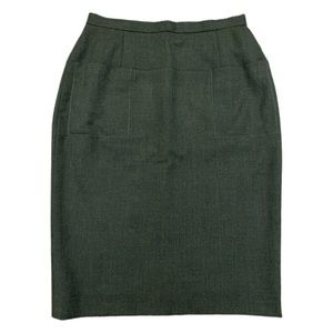 Barneys New York | Savile Row Pencil Skirt Green